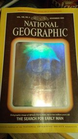1985 National Geographic Hologram Cover in Alamogordo, New Mexico