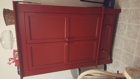 Red cabinet in Colorado Springs, Colorado