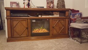 Entertainment Center with fire place in Colorado Springs, Colorado