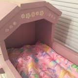 Vintage Solid Wood Handcrafted Doll Cradle in Joliet, Illinois