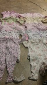 (0-3, 3months) 16 girl footed sleepers lot in Cherry Point, North Carolina