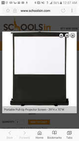 Portable Pull-Up Projector Screen 80 inches in Fort Lee, Virginia