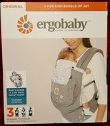 new ergo baby carrier 3 position with infant insert in Travis AFB, California