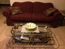 Couch & glass table in Ramstein, Germany