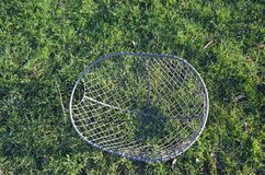 Rare vintage galvanised mesh potato basket. Used in the 1950's for the transport and picking of ... in Lakenheath, UK