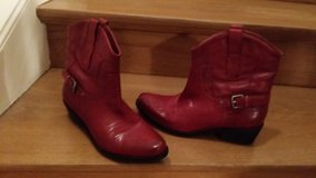 Franco Sarto Red Leather boot in Wiesbaden, GE