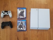 PlayStation 4 Limited White Destiny Edition (with two controllers and two games) in Fort Irwin, California
