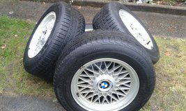 BMW 7 series winter tyres with original BBS alu rims in Ramstein, Germany