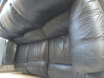 Free leather couch with recliner in Fairfield, California