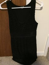 Black dress with waist band and floral embellishments in Eglin AFB, Florida
