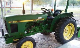 1986 John Deere Tractor with Box Blade 4700.00 obo or trade for RV in Liberty, Texas