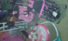 Brand New Minnie Mouse swing and bouncer and walker in Perry, Georgia