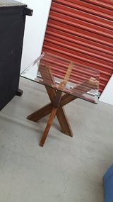 Pier 1 glass end table in Travis AFB, California