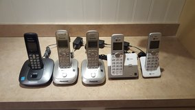 (3) Panasonic Cordless & (2) AT&T Cordless Phones - 5 phones in total! in Morris, Illinois