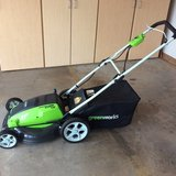 Green Works Electric Lawnmower in Warner Robins, Georgia