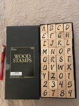 Letter and number stamps in Fort Rucker, Alabama