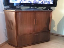 Wood Corner Cabinet / Entertainment Stand in Ramstein, Germany
