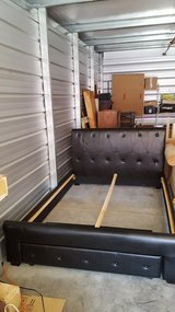 Queen Bed Frame W/ Drawer in Fairfield, California