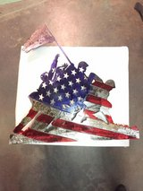 Iwo Jima Flag | Plaque | Going Away Plaque | Wall Sculpture | Wall Art | Office Decor | Home Déc... in Barstow, California