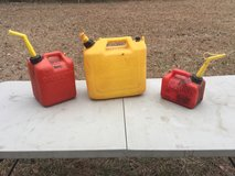 Plastic gas cans in Camp Lejeune, North Carolina