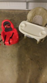 Fisher Price High Chair and Cars Booster Chair in Perry, Georgia