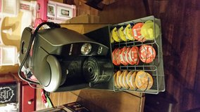Tassimo coffee maker with stand & cups in Conroe, Texas