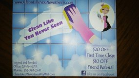 $20.00 Off First Time Clean in Kingwood, Texas