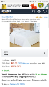 king comforter insert in Fort Carson, Colorado