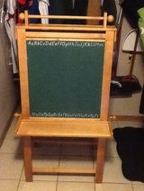 Chalk board and dry erase easel with lots of storage on both sides in Lockport, Illinois