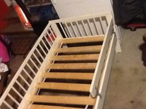Children's white wooden bed in great condition in Chicago, Illinois