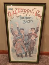 D.M. Ferry & Co's Standard Seeds Framed Poster in Batavia, Illinois