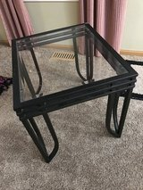 Glass & Metal End Table in Lockport, Illinois