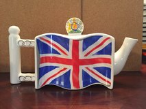 REDUCED again: International Flag Tea Pot- British Flag in Fort Campbell, Kentucky