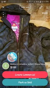 Women's Columbia jacket-Brand New, size M, with omni heath inner piece! in Great Lakes, Illinois