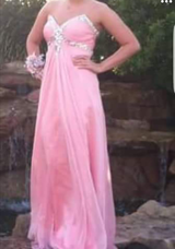 Soft Pink Strapless Gown. Worn One Time. Orig Cost $300. in Pasadena, Texas