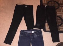 FOREVER 21 & H&M JEANS BOTH BLACK PAIRS in Colorado Springs, Colorado