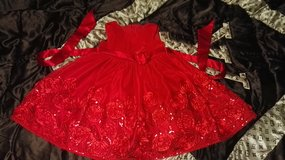 Toddler girl beuteful red dress 4T in Ramstein, Germany