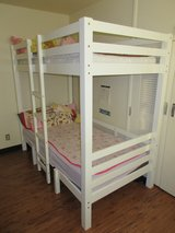 Children's Convertible Bunk Bed w/ mattresses in Okinawa, Japan