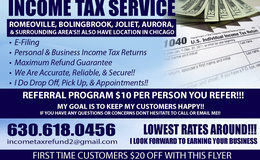 TAX RETURNS EFILE/ADVANVES in Chicago, Illinois