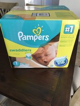 Jumbo box pampers size 1 diapers in Camp Pendleton, California