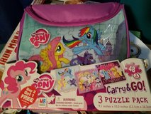my little pony puzzle with carry case new in box in Naperville, Illinois