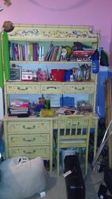 Adorable vintage desk and hutch with chair in Chicago, Illinois