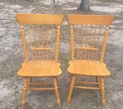 Two wooden chairs in Conroe, Texas