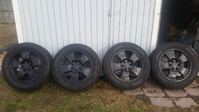 4 Wheels and Tires, Black Powder Coated in Camp Lejeune, North Carolina