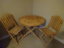 Bamboo table and chairs in Bartlett, Illinois