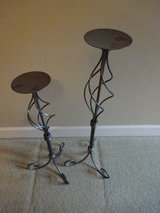 Set of Brushed Nickel Candle Holders in Bartlett, Illinois