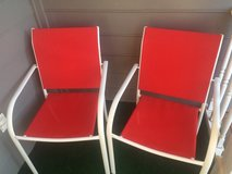 Patio chairs - red, set of 2 in Warner Robins, Georgia