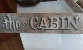 Vintage Rustic CABIN Sign in Bartlett, Illinois