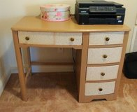 Vintage desk with love letter on drawers in Oceanside, California
