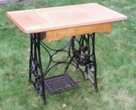 Antique Wood Sewing Machine Table in Bartlett, Illinois